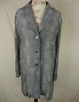 Elegante BETTY BARCLAY Vintage Crincle Long Bluse, Viskose steingrau Gr. 40