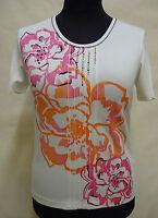 Wunderschönes GERRY WEBER  Stretch Shirt, Baumwolle weiß Gr. 42 Neuwertig !!!