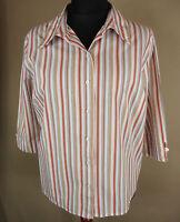 Sportliche HAMMERSCHMID 3/4 Arm Bluse, Hemd 100% Baumwolle mehrfarbig Gr. 42-44