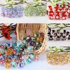 Wholesale Rhinestone Faceted Lampwork Flower Glass Spacer Beads Jewelry Making