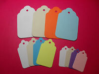 CHUNKY SCALLOP TAGS - WHITE CREAM NATURAL BRIGHT PASTEL - SMALL MEDIUM LARGE