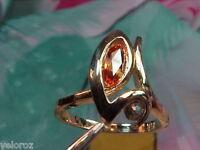 VVS Clean SolitaireFancy Marquise Rare Color Orange SAPPHIRE 14kt Ring