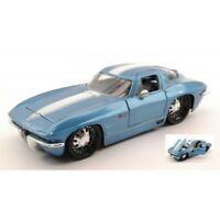JADA TOYS JADA96808BL CHEVY CORVETTE STINGRAY 1963 LIGHT BLUE 1:24 DIE CAST