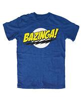 Bazinga T-Shirt Blau Retro,Sheldon,Big,Bang,Theory,Bazinga,Geek ,Spock,Kult,TV