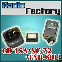 YAESU CD15A Charger FNB80LI Original battery with NC-72