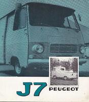 Catalogue Peugeot  J7  1974    brochure  prospectus