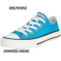 Kids Boy Girl CONVERSE All Star VIVID BLUE CHUCK TAYLOR Trainer Shoes SIZE UK 12