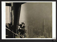 LEWIS HINE Empire State Building Construction Photo PHOTOGRAPH MODERN POSTCARD