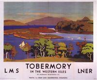 1920's LMS LNER Tobermory Railway A3 Poster Reprint