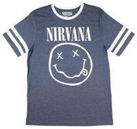 Nirvana Smiley Face Logo Hockey Graphic T-Shirt