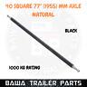 """Natural 40mm Square Axle 77"""" Long (1955mm) 1000kg Rating! TRAILER PARTS"""