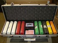 7.5 Gram 500 count Suited Design Poker Chip Set w/ Aluminum case! Brand New!