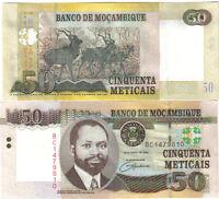 MOZAMBIQUE 50 METICAIS 2006 PICK 144 UNC