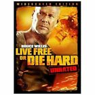 Die Hard 4: Live Free or Die Hard (DVD, 2007, Unrated; Widescreen; Single-Disc Version)