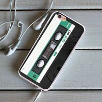 Cassette Tape Pattern Soft Silicone Case Phone Cover for iPhone Samsung Huawei