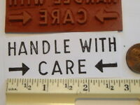 HANDLE WITH CARE WOOD MOUNTED rubber stamp office home business postal supplies