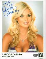 Candice Cassidy Signed Official Playboy Playmate Headshot 8x10 Photo PSA/DNA COA