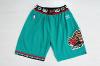 Memphis Grizzlies Throwback Basketball Stitched Shorts Green