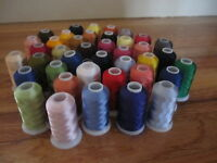 Lot of 40 Large Spools Rayon Embroidery Machine Thread