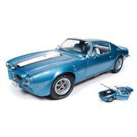 AUTO WORLD AMM1076 PONTIAC FIREBIRD TRANS AM 1972 ADRIATIC BLUE 1:18 DIE CAST