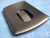 Modern Thumb Slide Out Stainless Steel Business Credit Card Holder Case