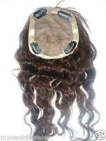 Full Lace Silk Top Closure Indian Remy Remi Human Hair Partial Wig 10 inch 4x4