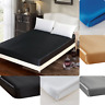 "1PC ELEGANT BED SOLID FITTED SHEET MICROFIBER WRINKLE FREE 14"" DEEP POCKET NEW"