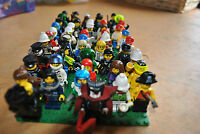 5 random Lego minifigures from large collection job lot: space city police etc