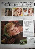 1948 Palmolive Doctors Prove More Beautiful Skin in 14 Days Soap Ad