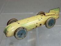 VINTAGE CHAD VALLEY  TIN-PLATE CLOCKWORK MODEL No.10001  RACING CAR Mk1