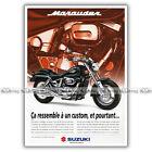 PUB SUZUKI VZ 800 MARAUDER VZ800 - Ad / Publicité Moto de 1996