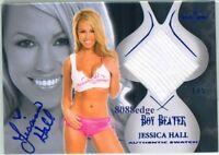 2010 BENCHWARMER BOY BEATER BLUE AUTO: JESSICA HALL #1/5 AUTOGRAPH WORN SWATCH