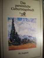 Persönliche Geburtstagsbuch 14  August  Geburtstag HC
