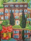 Unframed Original Artist Signed Oil On Canvas Colorful Landscape Painting