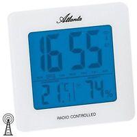 Atlanta 1814/0 Wecker Funk Funkwecker digital weiß Thermometer Digitalwecker [45