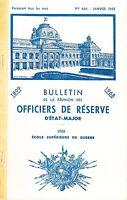 BULLETIN DE LA REUNION DES OFFICIERS DE RESERVE D'ETAT-MAJOR N° 446 JANVIER 1968