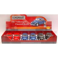KINSMART KT7002D VW CLASSIC BEETLE 1967 1:24 SET 6 PEZZI AUTO CAR MODEL