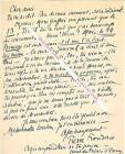 Lettre autographe signée de Pierre FRONDAIE Poète romancier et auteur dramatique