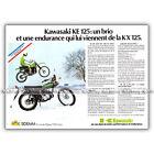 PUB KAWASAKI KE & KX 125 (KE125 1KX125) - Original Advert Publicité Moto de 1978