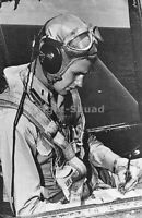 WW2 Picture Photo 1944 George Bush in the cockpit of his TBF Avenger bomber 2387