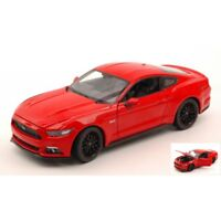 WELLY WE24062R FORD MUSTANG GT 2015 RED 1:24 MODELLINO DIE CAST MODEL