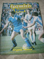 19.2.80 Ipswich Town v Crystal Palace programme Division One