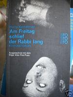Harry Kemelman : Am Freitag schlief der Rabbi lang