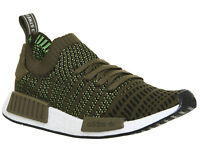 Mens Adidas Nmd R1 Prime Knit Trainers TRACE OLIVE Trainers Shoes