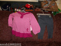 Disney 2 piece Tinkerbell Outfit Size 12 months Girl's NEW FREE USA SHIPPING