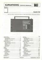 GRUNDIG SATELLIT 700 SHORTWAVE RADIO SERVICE MANUAL