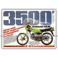 PUB KAWASAKI AR 80 AR80 80AR - Original Advert / Publicité Moto de 1982