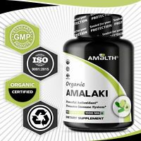 Organic Amla Powder Emblica Gooseberry Officinalis Vegan 450 Caps 1000mg