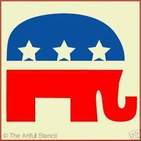 REPUBLICAN ELEPHANT STENCIL - LG - The Artful Stencil