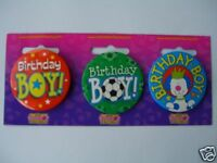 Small Party Badge - Birthday Boy (BB RR AA)